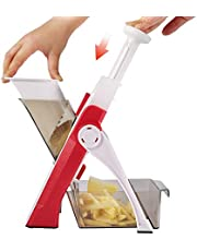 ONCE FOR ALL Multifunctional Cutter Appliance with Straight Stick Dice Julienne Cuts Blades for Vegetables and All Types of Fruits