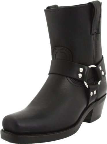 Womens Black Harness Boots - 6