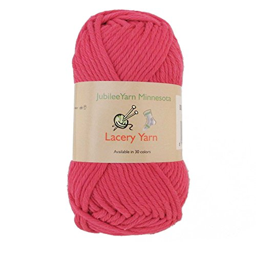- Bulky Weight Lacery Yarn 100g - 2 Skeins - 100% Cotton - Rosy Blush - Color 008
