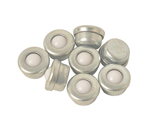 TOMUM Set of 8pcs CY-8H Mini Nylon Ball Transfer Bearing Unit Table Conveyor Roller Ball for Transmission, Furniture, (Nylon Ball Bearing Roller)