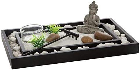 Paris Prix – jardín Zen Caillou 24 cm negro: Amazon.es: Hogar
