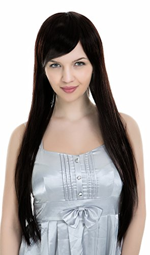 PINKISS High Quality Fashion Hair Replacement Extension Wig with Free Quality Wig Cap (LS621-2 / DARK BROWN)
