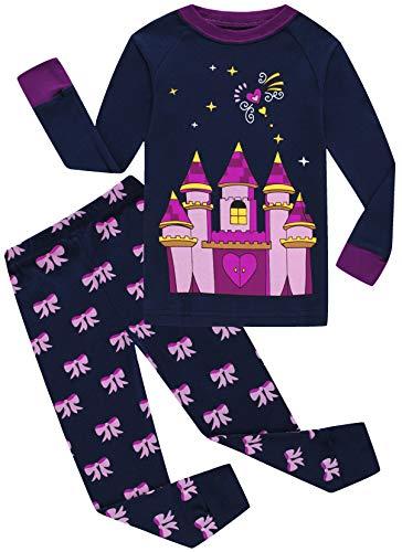 Girls Castle Pajamas Cotton Long Sleeve Sets for Christmas Kids Sleepwear