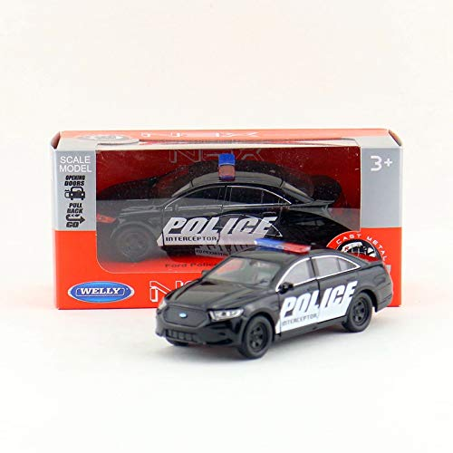 GreenSun 1:36 Scale/Ford Taurus Police Intercepter/Pull Back Car/Educational Collection/Gift/Kid