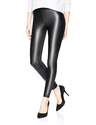 Petite Black Leather (LIMOSUNO Women's Faux Leather Leggings– Shiny Black Leather Pants Petite Gift Wrap (0-2US))