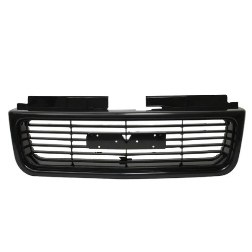 (CarPartsDepot, Front Pickup Grille Grill New Black ABS Plastic Replacement, 400-191249 GM1200436 12472678)