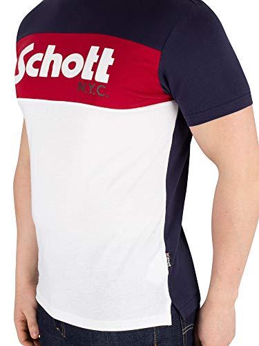 Schott bianco dk Homme Maglietta blu Rosso Multicolore marino marino Tsdanny Blu Nyc dk Rosso bianco Zd6qFBw