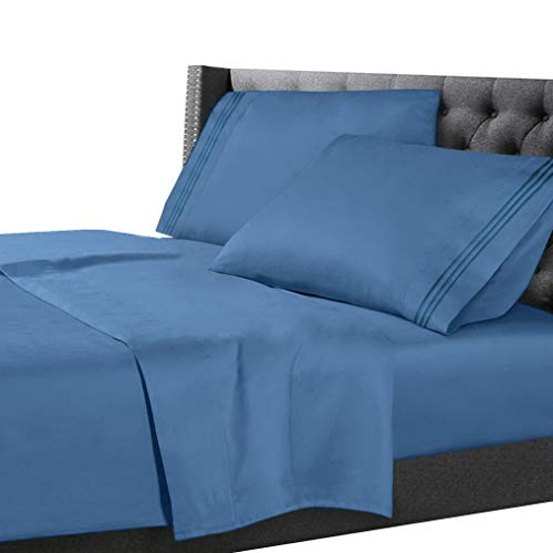 Hebel All Unique Sizes Brushed Soft Microfiber Hotel Bed Sheets, Deep Pocket Sheet Set | Model SHTST - 1764 | Twin XL