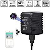 Hidden Cameras WiFi Wireless USB Spy Charger Adapter -BSTCAM FHD 1080P HD Mini 15 Degree Upward View Real Cell Phone Motion Detection USB Wall Charger Nanny Cam for Home and Office Security