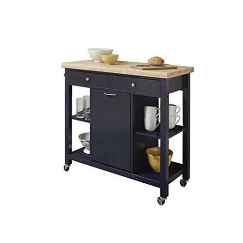 Coaster Fine Furniture 102675 Carrito de Cocina de Madera, Color Azul