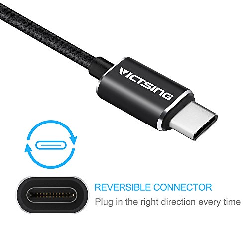 VicTsing USB Type C to Micro USB 2.0 (Micro USB) Cable for New Macbook 12 inch 2015 and Other Devices with Type-C Connector-Black,3.3ft