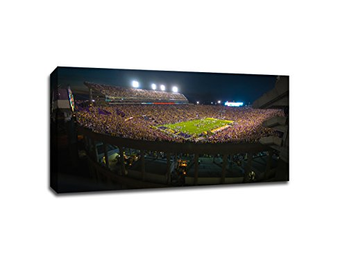 LSU - College Football - 40x22 Gallery Wrapped Canvas Wall Art (Best College Football Stadiums)