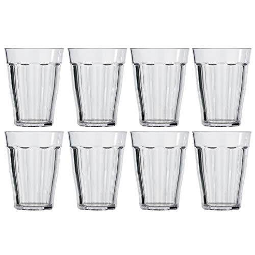 12-ounce Plastic Tumblers | set of 8 Clear