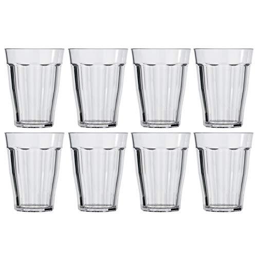 (Rhapsody 12-ounce Plastic Tumblers | set of 8 Clear)