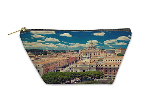 Gear New Accessory Zipper Pouch, High Point View Over City Of Rome, Small, - At Highpoint Stores