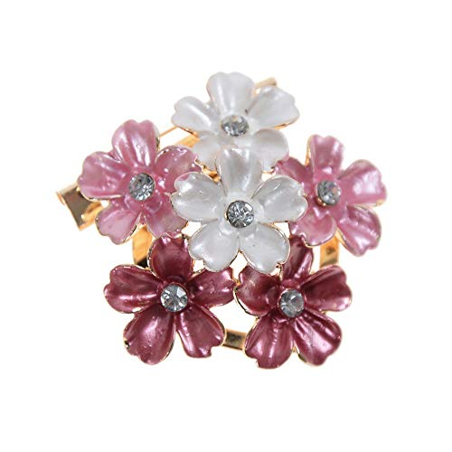 Womens Vintage Alloy Rhinestone Crystal Flower Wedding Bridal Bouquet Brooch Pin (StyleID - #13) ()