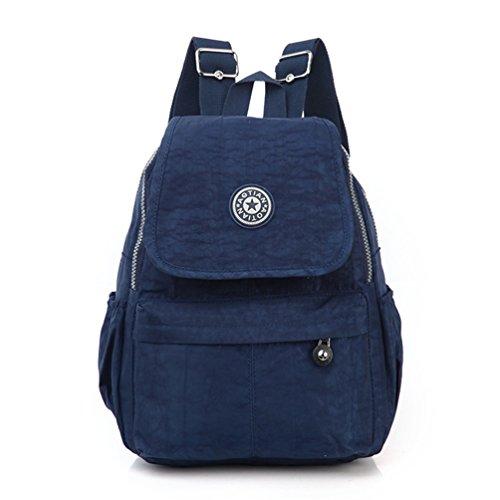 AOTIAN - mochila para uso diario, multibolsillos, pequeña, ligera, de tela, para viajes y ocio B-CNAVY
