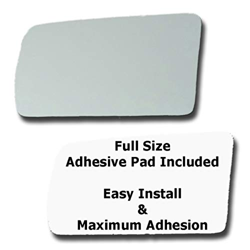Mirror Glass + Full Size Adhesive Pad for 1987-1988 Pontiac Sunbird Driver Side Replacement