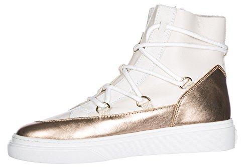 Femme Baskets Beige h342 Hogan Hautes Chaussures Sneakers Cuir en 1ABIvqfx