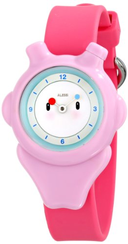 """Price comparison product image Alessi Kids' AL23003 """"Space-Bimba"""" Automatic Watch with Pink Plastic Band"""