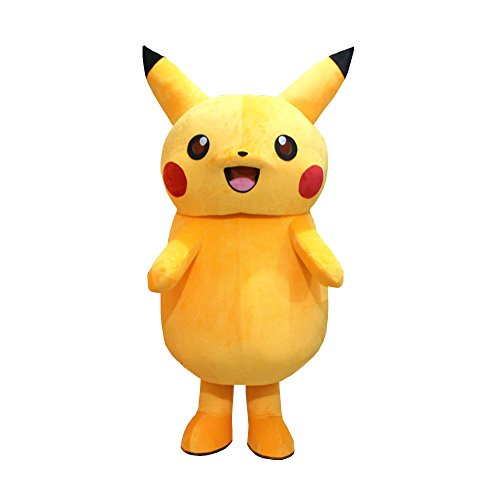 Alkem Pikachu Mascot Japanese Cartoon Costume Adult Cosplay Outfit (Large) Yellow]()