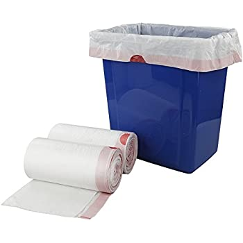 Doryh 8 Gallon White Drawstring Trash bags, 2 Rolls/120 Counts, F