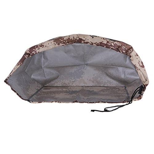 MagiDeal Waterproof & Vented Outboard Motor Boat Engine Protective Cover 2-300 HP 7 Sizes Desert Camo - for 10-45 HP Engines