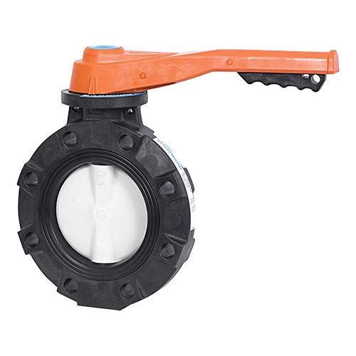Lever Operated Hayward BYV44025A0NL000 Series BYV Butterfly Valve 2-1//2 Size GFPP Body Nitrile Seals GFPP Disc