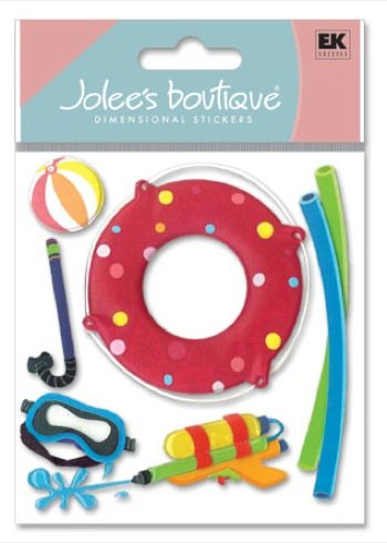 Jolees Boutique Dimensional Stickers, Pool Toys