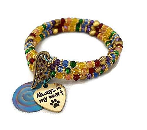 e00dd72fc Amazon.com: Handcrafted Gold Rainbow Bridge Bracelet Laser Etched ...