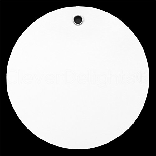 (25 Pack - CleverDelights White Plastic Tags - 2