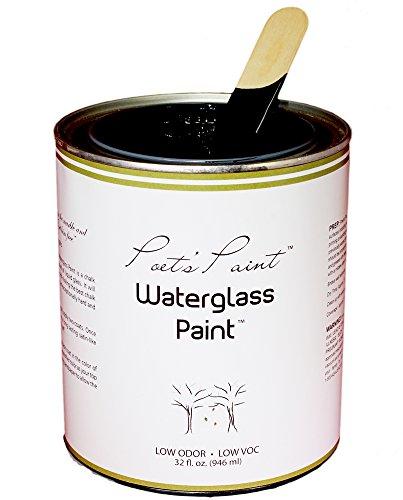 Poets Paint Waterglass Paint Chalk Finish Blackbird 32 oz by Poets Paint