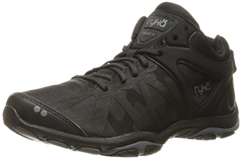 Ryka Women's Enhance 3 Cross-Trainer Shoe, Black/Grey, 7.5 M US