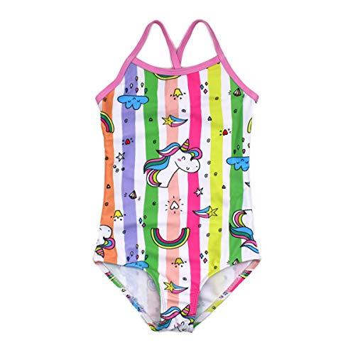 HONISEN Girls Two Pieces Tankini Swimsuits Hawaiian Ruffle Swimwear Bathing Suit Set