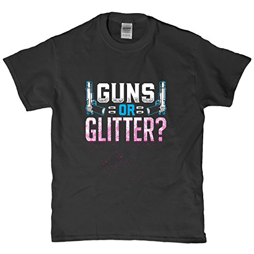 Guns Or Glitter Gender Reveal T Shirt 21497