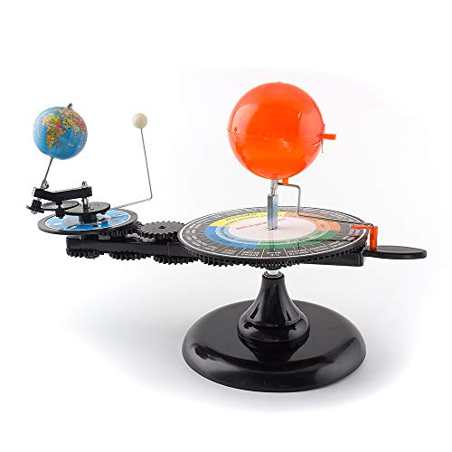 Solar System Sun Earth Moon Orbital Planetarium Model with Light, Educational Planetarium Astronomical Science Project Kit