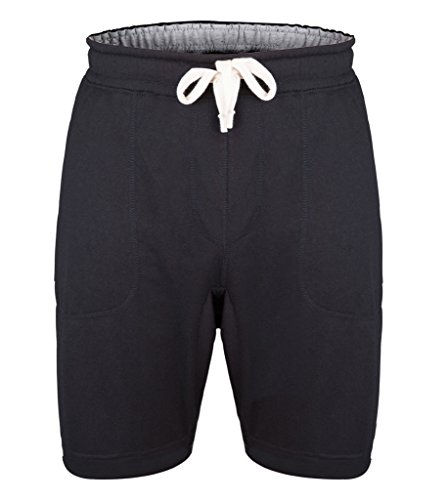 mlight-mens-causal-cotton-elastic-waistband-gym-sports-shorts-with-pocketsblackm