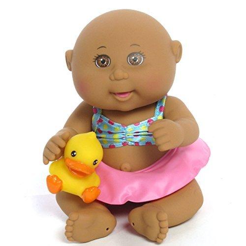 Cabbage Patch Kids Tiny Newborn Splash 'n Fun (Ethnic, Brown Eyes) (Cabbage Patch Doll Black)