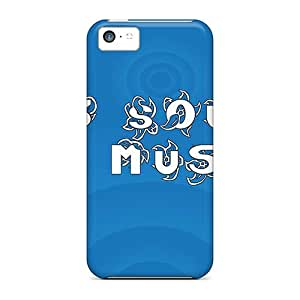 Awesome Music Sound Flip Case With Fashion Design For Iphone 5c