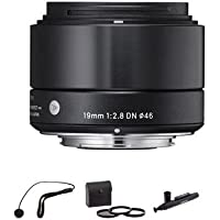 Sigma 19mm f/2.8 DN Lens for Sony E-mount Camera, Black with Accessory BUNDLE