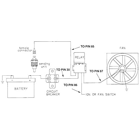 American Volt 140F-210F Electric Radiator Fan Thermostat Sensor Ground Switch NPT Inch Thread Kit 3//8 Inch, 180F On - 165F Off