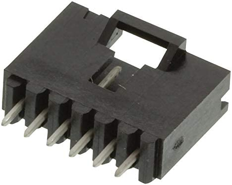 6 Contacts Wire-To-Board Connector 1 Rows AMPMODU MTE Series 5-103639-5 2.54 mm Header 5-103639-5 Through Hole Pack of 20