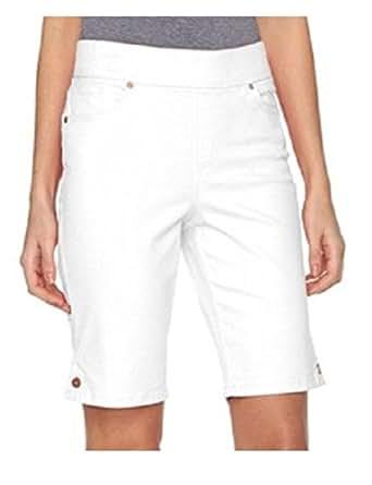 Gloria Vanderbilt White Avery Shorts Pull On 24 at Amazon