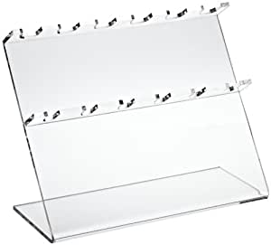 """Bel-Art Scienceware 189610060 Clear Acrylic Pipettor Stand, 12"""" Length x 5"""" Width x 9-1/2"""" Height, 6 Places Pipette"""