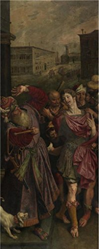 [The Perfect Effect Canvas Of Oil Painting 'Diocletanius Arrests Saint Sebastian By Ambrosius Francken I' ,size: 18x45 Inch / 46x115 Cm ,this Cheap But High Quality Art Decorative Art Decorative Canvas Prints Is Fit For Hallway Gallery Art And Home Gallery Art And] (Arrest Shoes Adult)
