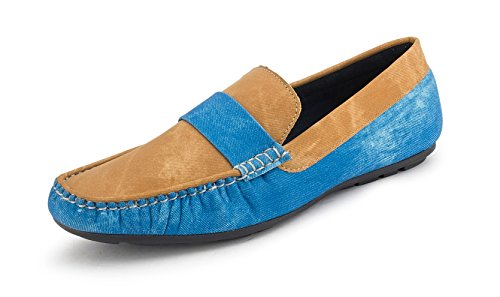 Gekko Mens Shoes-431 - Zapatos de Cordones de Material Sintético Para Hombre Azul Azul 44