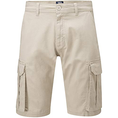 Charles Wilson Men's Comfort Stretch Cargo Shorts (Stone, 34