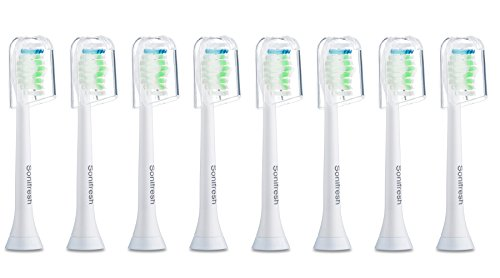Sonifresh Toothbrush Heads, DiamondClean Sonic Replacement Heads For Philips Sonicare Electric Toothbrush,8 Pack