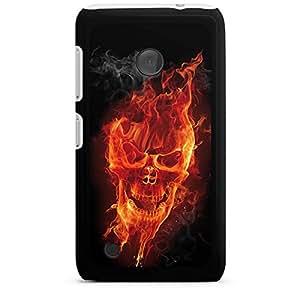 Nokia Lumia 1020Funda Silicona Case Protección cover Calavera Fuego Rocker
