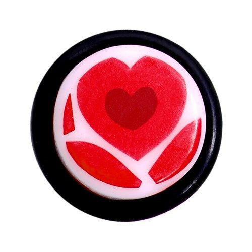 Grosor 00 Precioso Corazón Rojo Acrilico Oreja Dilatador (1 Pieza): Amazon.es: Joyería